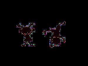 zwei spielende Kinder - Schattenbilder
